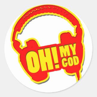 oh my god! round sticker