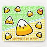 Oh My Goodness! Kawaii Candy Corn! Mousepad