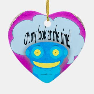 Oh my look at the time! ceramic heart decoration