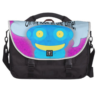Oh my look at the time! laptop computer bag