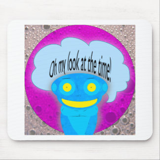 Oh my look at the time! mousepad