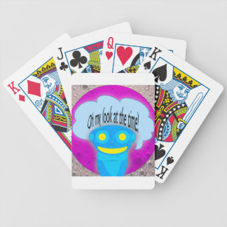 Oh my look at the time! playing cards