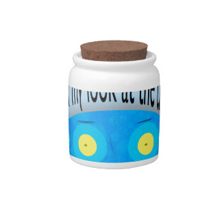 Oh my look at the time! candy jar