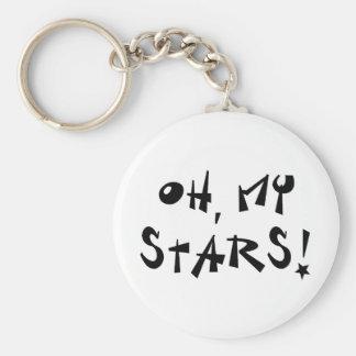 Oh, my stars! basic round button key ring