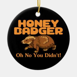 Oh No Honey Badger Christmas Ornament