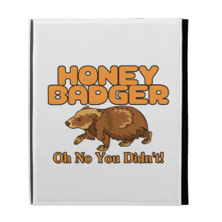 Oh No Honey Badger iPad Folio Cases