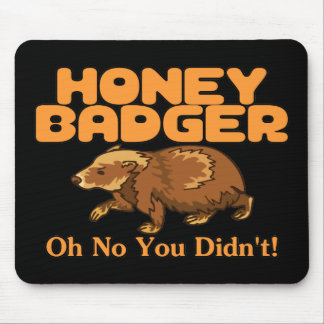 Oh No Honey Badger Mouse Mat