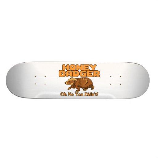 Oh No Honey Badger Skateboard Decks