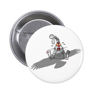Oh No! Rabbit Cartoon 6 Cm Round Badge