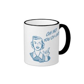 OH NO YOU DI-INT Retro Housewife Blue Mug