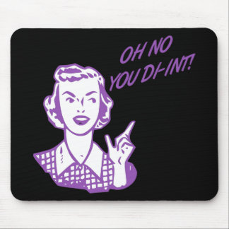 OH NO YOU DI-INT Retro Housewife Purple Mousepads