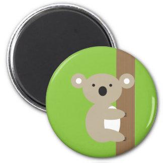 Oh Oh Koala 6 Cm Round Magnet