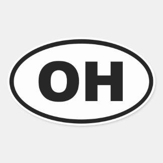 OH Ohio Oval Sticker