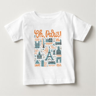 Oh, Paris!   Town Typography Baby T-Shirt