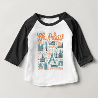 Oh, Paris! | Town Typography Baby T-Shirt