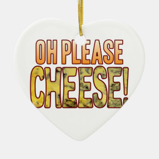 Oh Please Blue Cheese Ceramic Heart Decoration