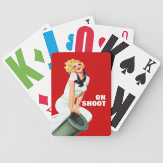 Oh Shoot - Fun Retro Playing Cards