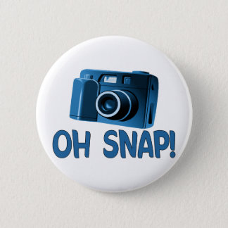 Oh Snap Camera 6 Cm Round Badge