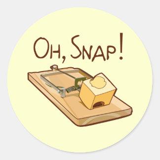 Oh, Snap! Classic Round Sticker