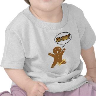 Oh Snap Funny Christmas Gingerbread Man Tshirt