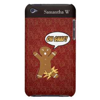 Oh Snap! Funny Gingerbread Man iPod Touch Cover