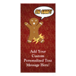 Oh Snap! Funny Gingerbread Man Personalized Photo Card