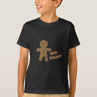 oh snap, gingerbread man, merry christmas T-Shirt