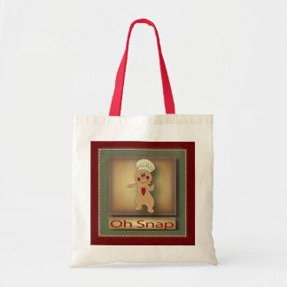 Oh Snap Gingerbread Man Budget Tote Bag