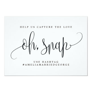 Oh Snap Instagram Sign - Lovely Calligraphy Card