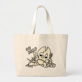 Oh Snap Skeleton Large Tote Bag