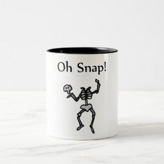Oh Snap! (Skeleton) Two-Tone Coffee Mug