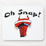 Oh Snap Stuck Santa Mouse Pad