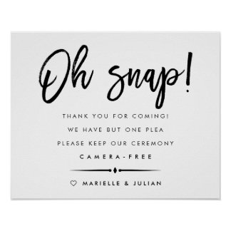 Oh Snap | Typography Unplugged Ceremony Poster