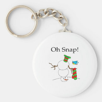 Oh Snap! (UD Snowman) Basic Round Button Key Ring