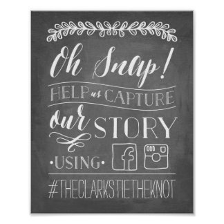 Oh Snap! | Wedding Hashtag Sign