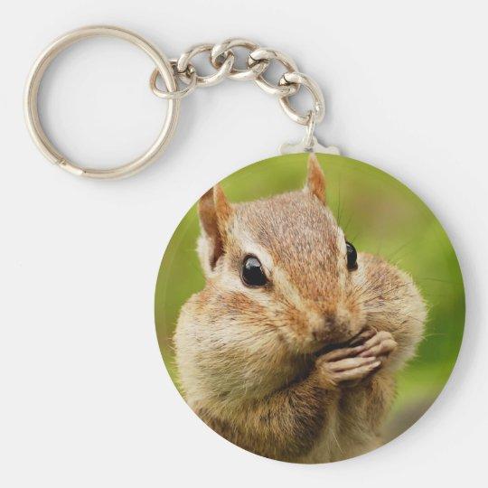 Oh So Cheeky Chipmunk Key Ring
