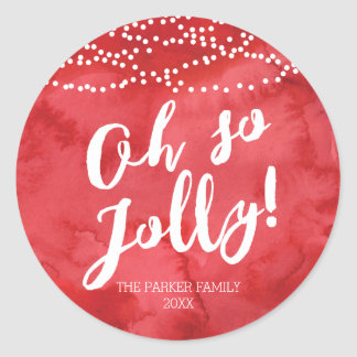 Oh So Jolly by The Spotted Olive Holiday Round Sticker