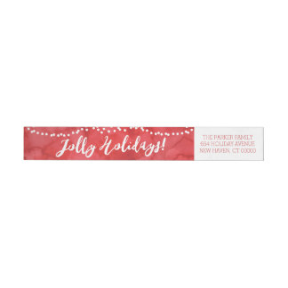 Oh So Jolly by The Spotted Olive Holiday Wraparound Return Address Label