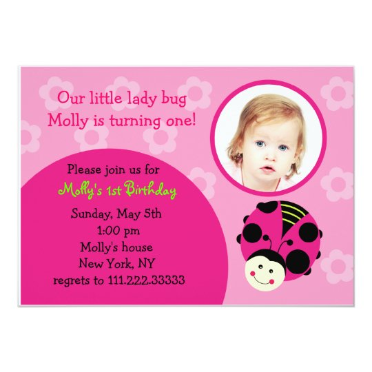 Oh So Sweet Ladybug Birthday Party Invitations