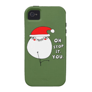oh stop it you xmas meme vibe iPhone 4 cases