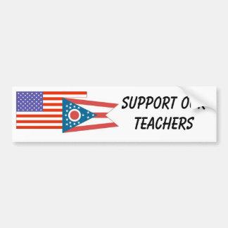 OH--Support Our Teachers Bumper Sticker
