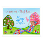 Oh Sweet Candy Land Cupcakes and Lollipops Postcard