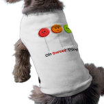 Oh Sweet Thing! - Lollipop Design for Dogs Sleeveless Dog Shirt