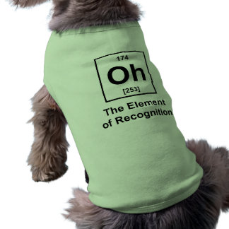 Oh! The Element of Recognition Sleeveless Dog Shirt