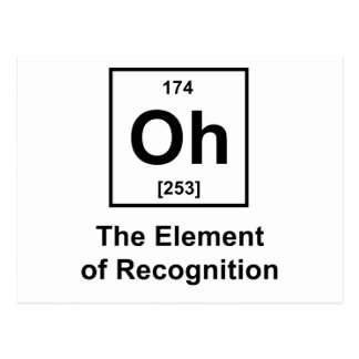 Oh! The Element of Recognition Postcard