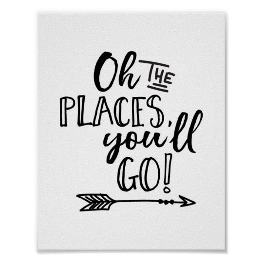 Oh the places you'll go kids print poster