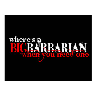 Oh those Barbarians Postcard