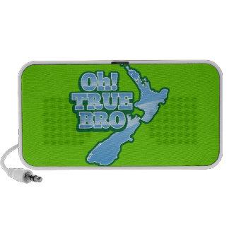 Oh TRUE BRo! kiwi map iPod Speakers