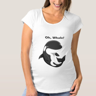 Oh Whale Cute Baby Orca Killer Whale Maternity T-Shirt