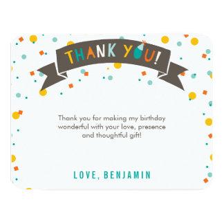 Oh What Fun Confetti 1st Birthday Thank You Card 11 Cm X 14 Cm Invitation Card